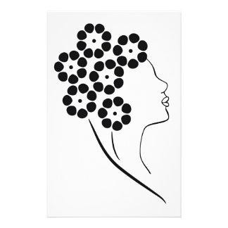 Art Nouveau Flower Girl Stationery