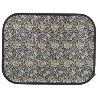 Art Nouveau Flower Pattern Earth Tones Car Floor Carpet