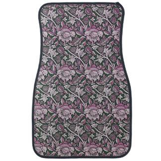 Art Nouveau Flower Pattern Shades of Pink Car Mat