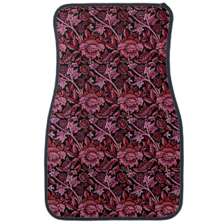 Art Nouveau Flower Pattern Shades of Red.png Car Liners