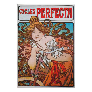 Art Nouveau French Bicycle Ad Poster