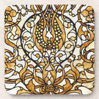 Art Nouveau French Lily Floral Design Coaster