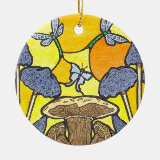 Art Nouveau Fungi Ceramic Ornament