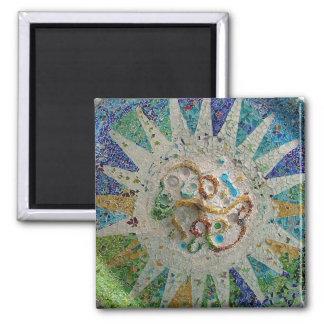 Art Nouveau Gaudi Tiles Magnet