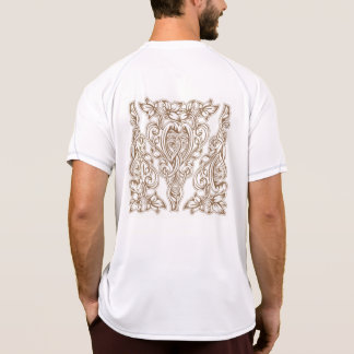 art nouveau, gold,white,vintage,pattern,floral,bel T-Shirt