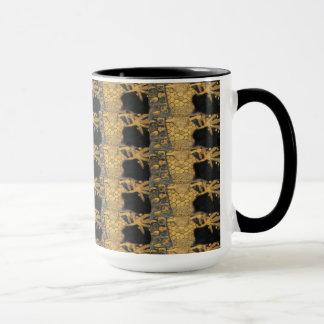 Art Nouveau Gustav Klimt Gold Black Pattern Mug