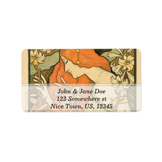 Art Nouveau Label