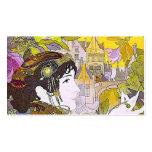 Art Nouveau Lady in a Garden Business Card