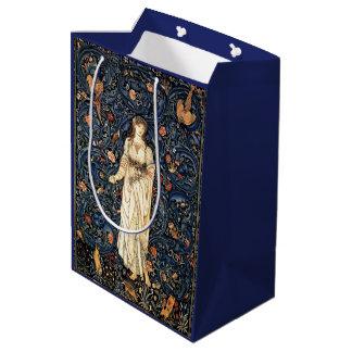 Art Nouveau Lady Rabbit Bird Flowers Gift Bag