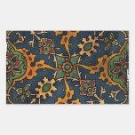 Art Nouveau l'Art Arabic Rectangle Sticker
