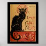 Art Nouveau Le Chat Noir Vintage Black Cat Poster