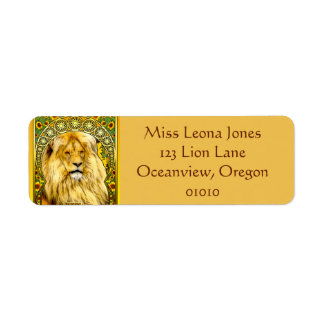 Art Nouveau Leo Address Labels