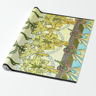 Art Nouveau Lilies 1901 Wrapping Paper