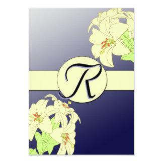 Art Nouveau Lillies Wedding Invitation