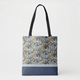 Art Nouveau Lily of the Valley Design Tote Bag