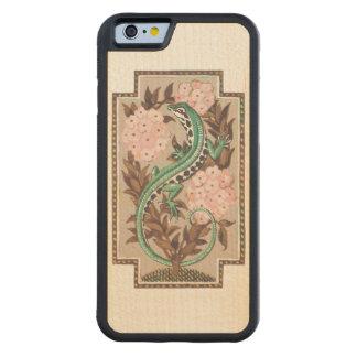 Art Nouveau Lizard Carved Maple iPhone 6 Bumper Case