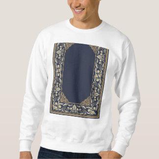art nouveau, navy blue, gold,antique,belle époque, sweatshirt
