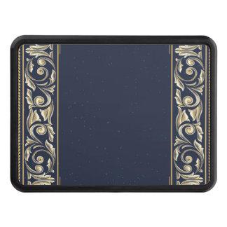 art nouveau, navy blue, gold,antique,belle époque, trailer hitch cover