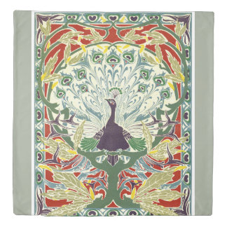 Art nouveau, original, vintage,peacock,design duvet cover