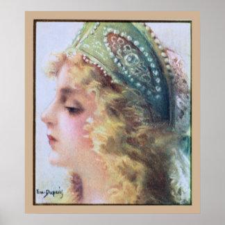 Art Nouveau Painting Beautiful woman Poster