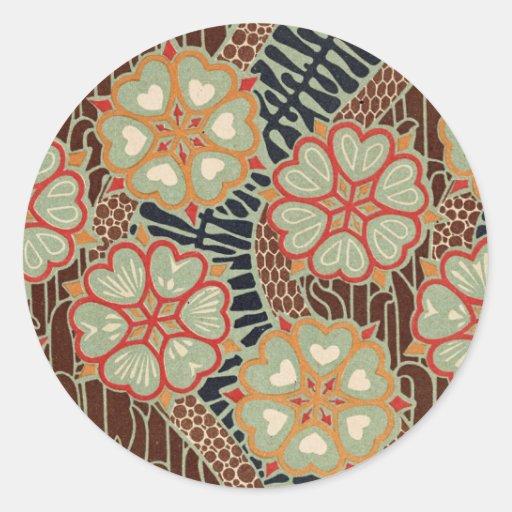 Art Nouveau Pattern #2 at Emporio Moffa Round Sticker