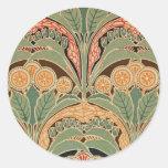 Art Nouveau Pattern #3 at Emporio Moffa Round Sticker