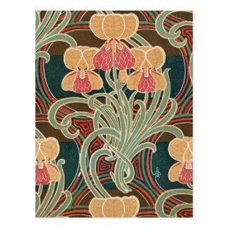 Art Nouveau Pattern #4 at Emporio Moffa Post Cards