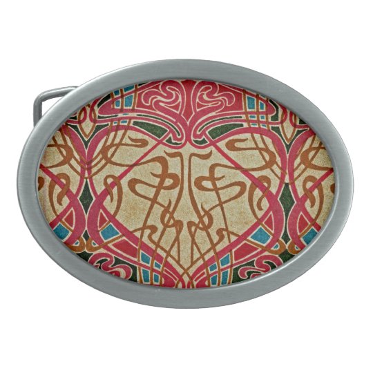 Art Nouveau Pattern #9 at Emporio Moffa Belt Buckle