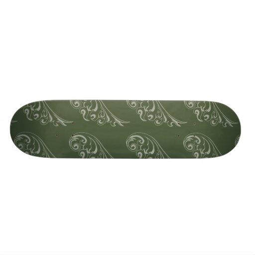 Art nouveau pattern green green skateboards