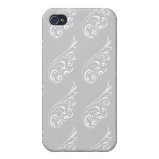 Art nouveau pattern grey iPhone 4/4S case