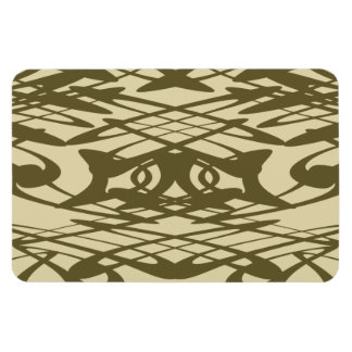 Art Nouveau Pattern in Beige and Brown. Rectangular Photo Magnet