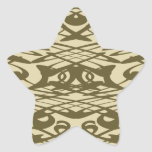 Art Nouveau Pattern in Beige and Brown. Stickers