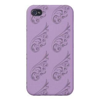 Art Nouveau pattern lilac 2 Case For iPhone 4