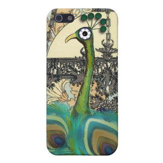 Art Nouveau Peacock Chandelier Flower iPhone Case Case For iPhone 5/5S