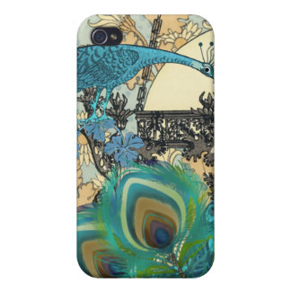 Art Nouveau Peacock Chandelier Flower iPhone Cover Case For The iPhone 4