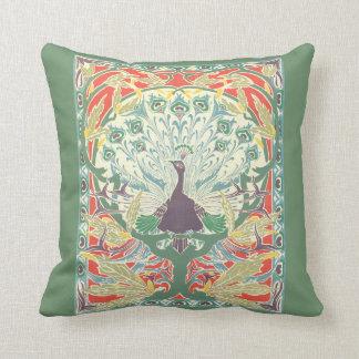 Art Nouveau Peacock Pillow