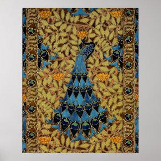Art Nouveau Peacock Poster