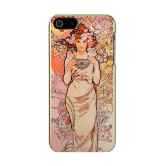 Art Nouveau Pink Lady with Roses Incipio Feather® Shine iPhone 5 Case