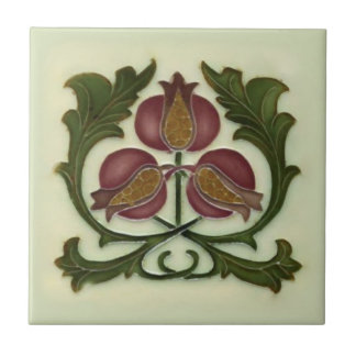 Art Nouveau Pomegranate Reproduction Antique Tile