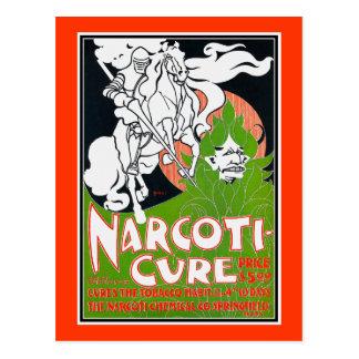 Art Nouveau Poscard:  Narcoti-Cure by Will Bradley Postcard