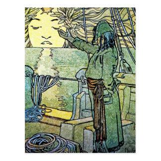 Art Nouveau Postcard: Alphonse Mucha - Sun Postcard
