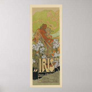 Art Nouveau Posters - Iris