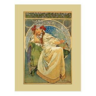 Art Nouveau Princess Postcard