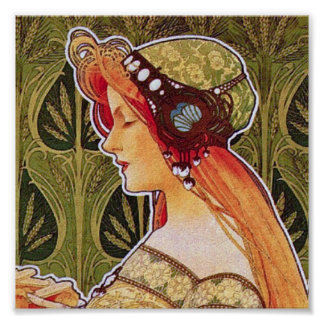 """Art Nouveau: Privat-Livemont """"Biscuits"""" Poster"""