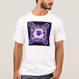 ART NOUVEAU PURPLE SPRING PANSY GARDEN T-Shirt