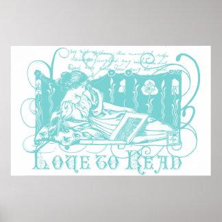 Art Nouveau Reader Poster