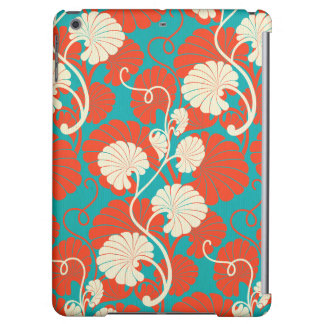 art nouveau, red,blue,beige,floral,belle époque,vi iPad air cases