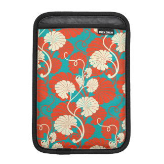 art nouveau, red,blue,beige,floral,belle époque,vi iPad mini sleeve