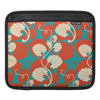 art nouveau, red,blue,beige,floral,belle époque,vi iPad sleeve