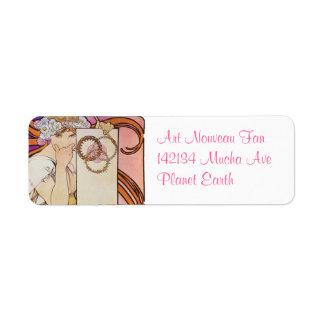 Art Nouveau Return Address Label